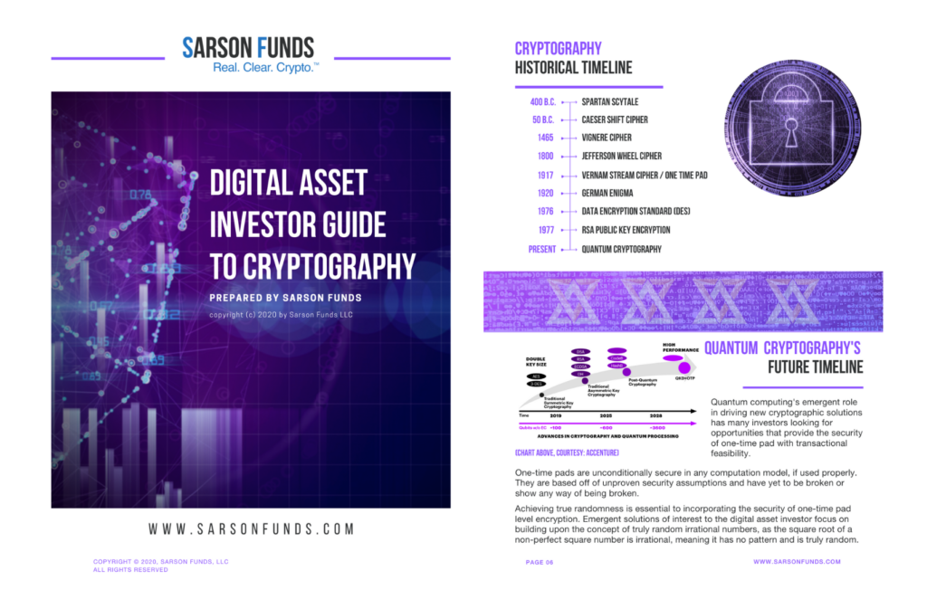 Cryptography Investor Guide Sarson Funds