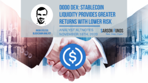 Sarson Funds: Dodo Dex Provides Better Returns and Lower Risk- Cryptocurrency Financial Advisor