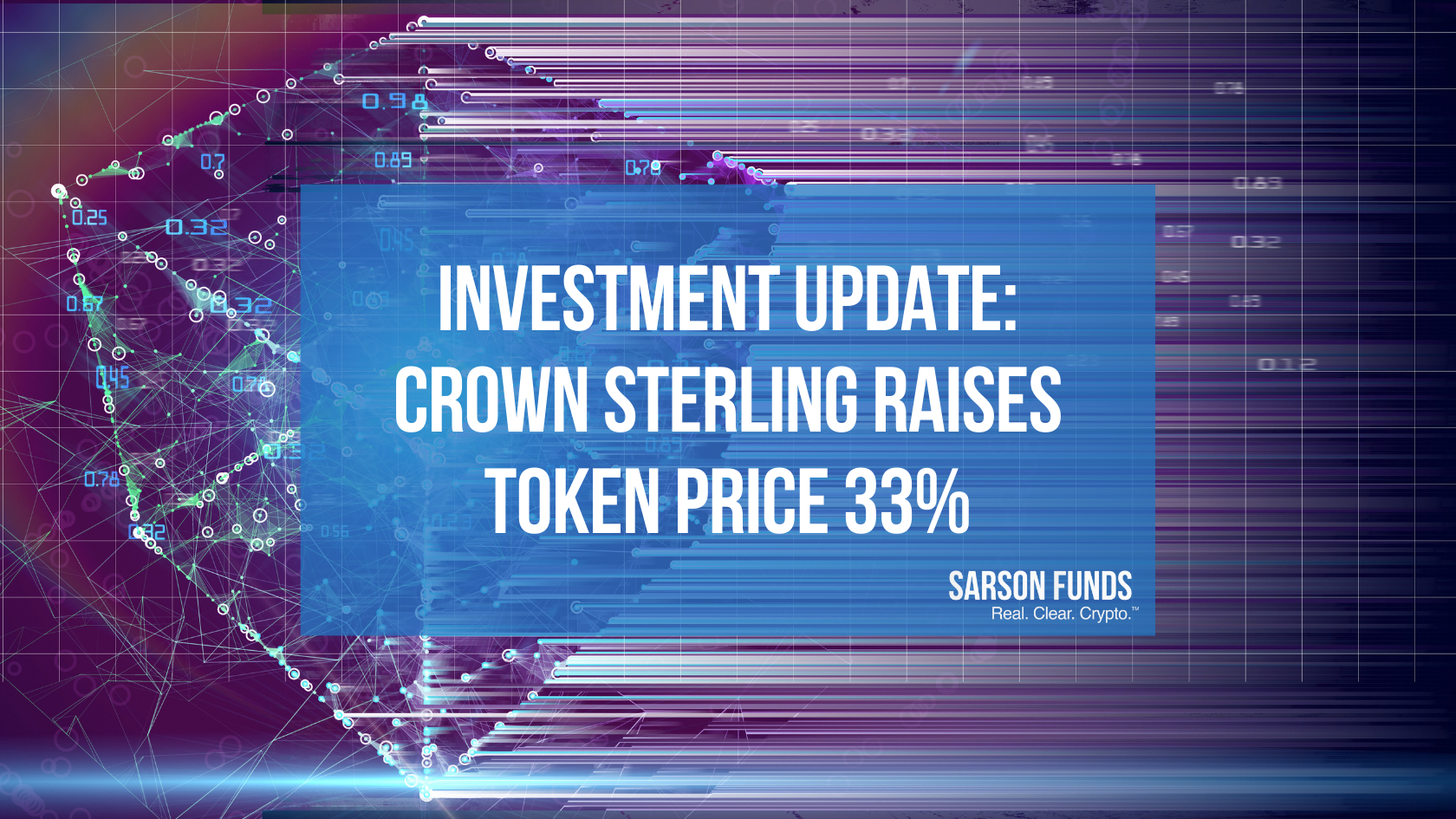 Sarson Funds: Crown Sterling Token Price Increase - Cryptocurrency Financial Advisor