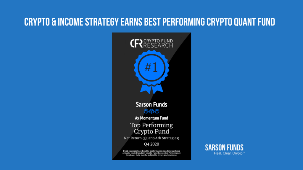 Crypto & income strategy best performing crypto quant fund Sarson Funds cryptocurrency financial advisor